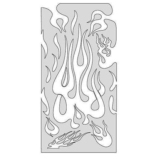 accaparramento come merce rara goditi il miglior prezzo enorme inventario Stencil aerografo Artool Flame Master