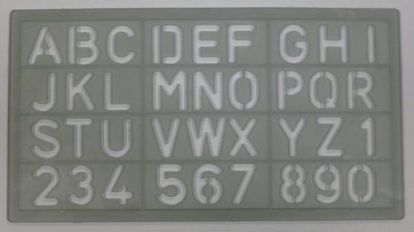2beaceb338 Normografo Wiler - N300/20 20 mm, Lettere e numeri, Wiler