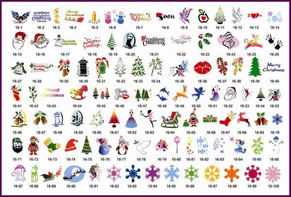 Stencils adesivi per tatuaggi temporanei libro 16 100 for Stencil adesivi